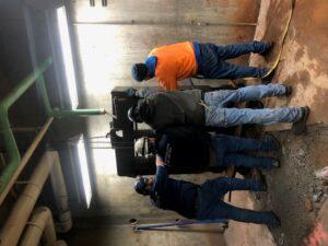 Install Team for New Boiler Room #4 © SESD
